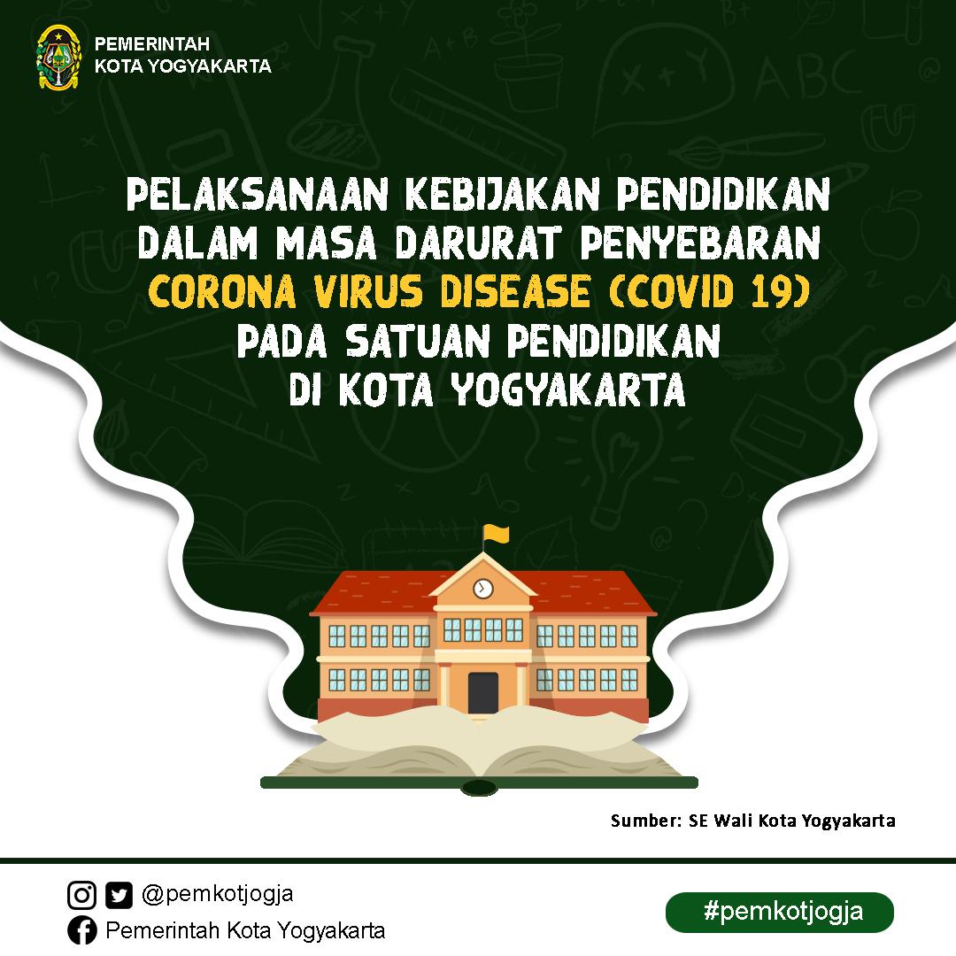 Perpanjangan Masa Kegiatan Belajar di Rumah bagi Peserta Didik di Kota Yogyakarta
