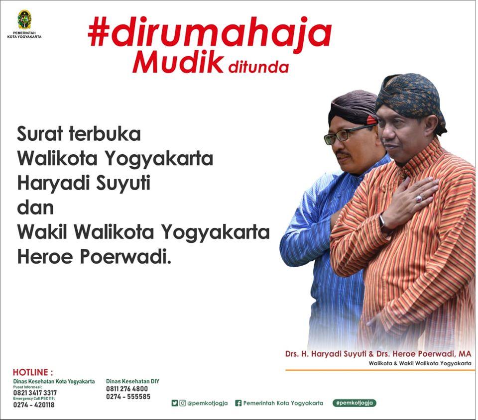 Surat Terbuka Walikota Yogyakarta dan Wakil Walikota Yogyakarta terkait Perkembangan COVID19
