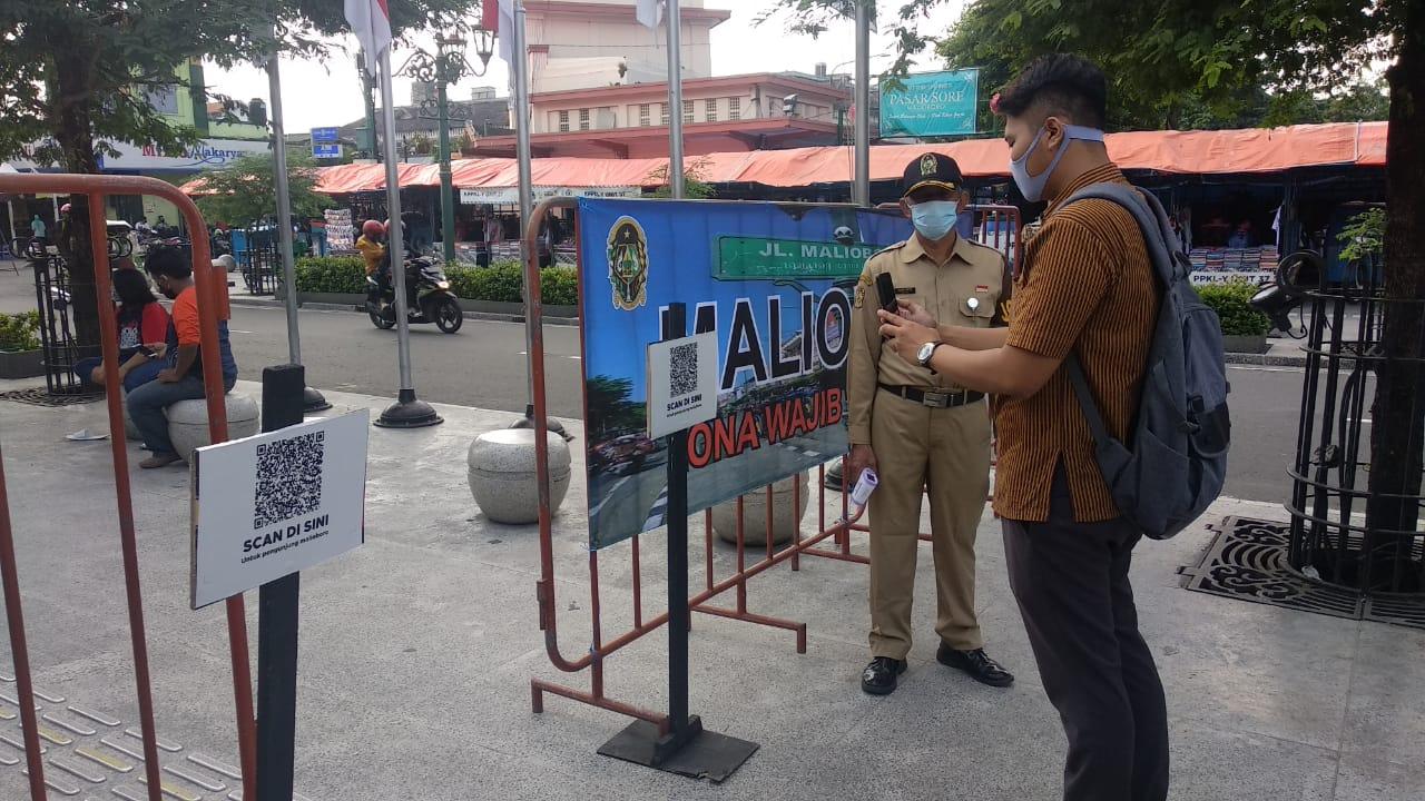 Masuk Malioboro, Pengunjung Wajib Pindai Barcode