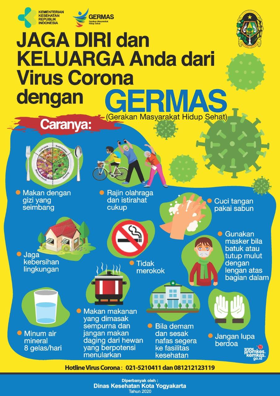 Jaga diri dan keluarga dari Virus Corona dengan Germas